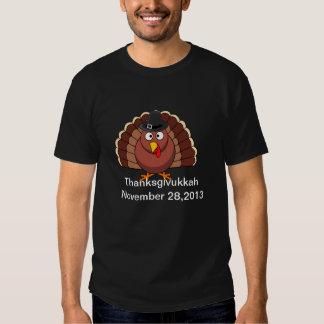 Happy Thanksgivukkah - Thankgiving Turkey Tshirt