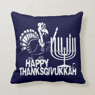 Happy Thanksgivukkah Turkey and Menorah Pillows