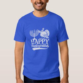 Happy  Thanksgivukkah Turkey Lighting Menorah Tee Shirts