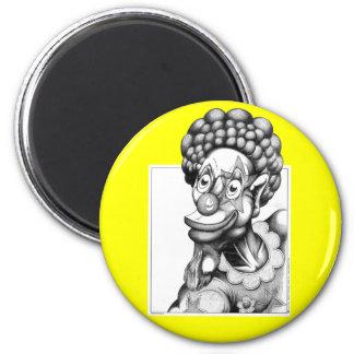 Happy the Clown 6 Cm Round Magnet