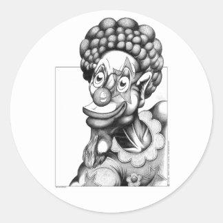 Happy the Clown Classic Round Sticker