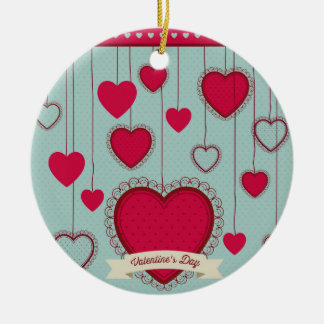 happy the Valentins Christmas Ornament
