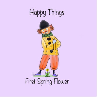 Happy Things – First Spring Flower Standing Photo Sculpture