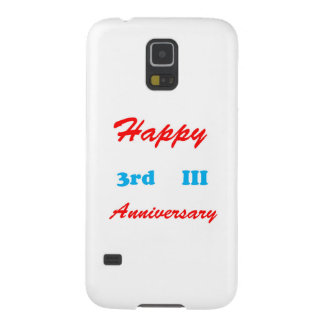 Happy THIRD 3rd III ANNIVERSARY Shirts RETURN GIFT Galaxy S5 Cover