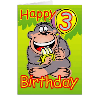 Happy third birthday card