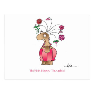 HAPPY THOUGHTS Postcard by April McCallum