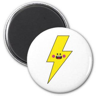 Happy Thunder 6 Cm Round Magnet