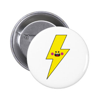 Happy Thunder Pinback Button