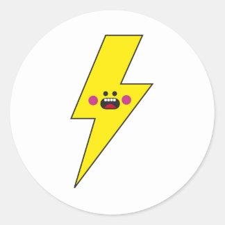 Happy Thunder Round Sticker