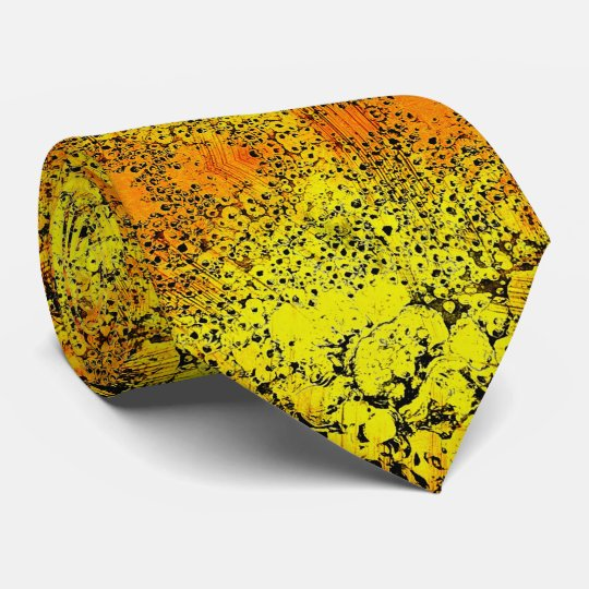 Happy Tie in bright colours: yellow, orange, black