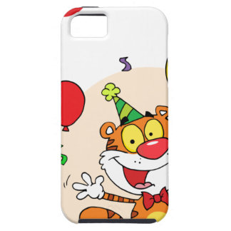 Happy Tiger In Party iPhone 5 Cases