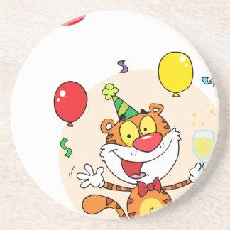 Happy Tiger In Party Coaster