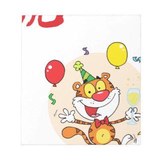 Happy Tiger In Party Memo Note Pad