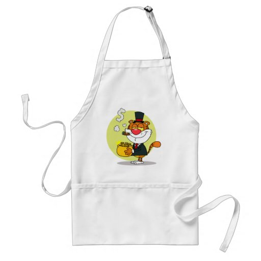 Happy Tiger With Pot Of Gold Apron