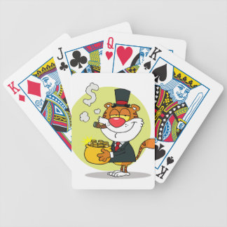 Happy Tiger With Pot Of Gold Bicycle Card Decks