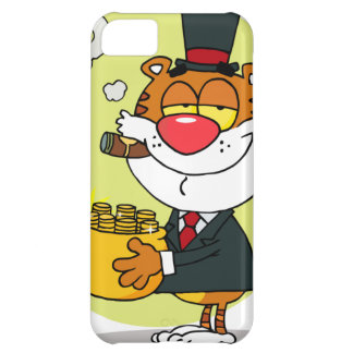 Happy Tiger With Pot Of Gold Case For iPhone 5C