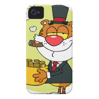 Happy Tiger With Pot Of Gold iPhone 4 Covers