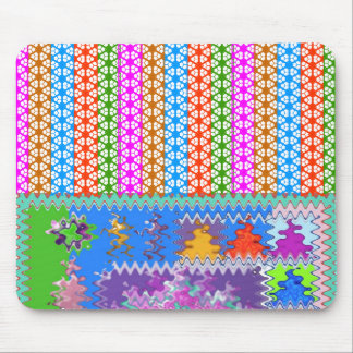 Happy Times : Feminine Energy Pattern Mouse Pads