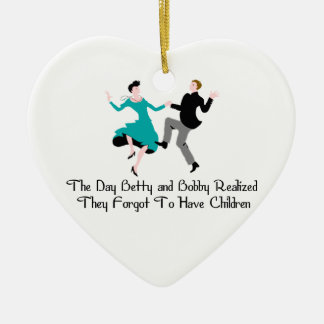 Happy To Be Child Free Christmas Ornament
