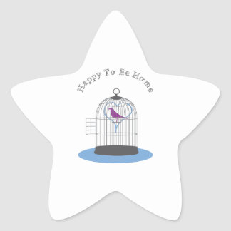 Happy to be Home Star Sticker