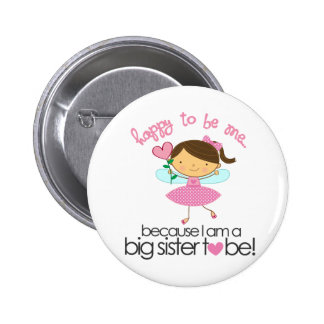 Happy To Be Me Fairy Big Sister T-shirt 6 Cm Round Badge
