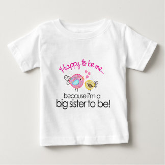 Happy To Be Me Whimsy Bird Big Sister T-shirt
