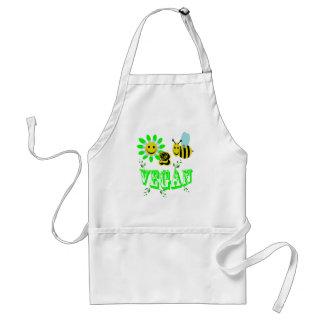happy to bee vegan apron