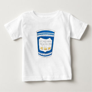 Happy to Serve You Blue Greek Diner Coffee Cup Tee