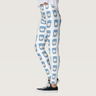 Happy To Serve You NYC Greek Diner Coffee Cup Cups Leggings