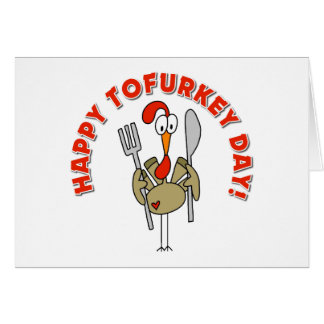 Happy Tofurkey Day Gift Greeting Card