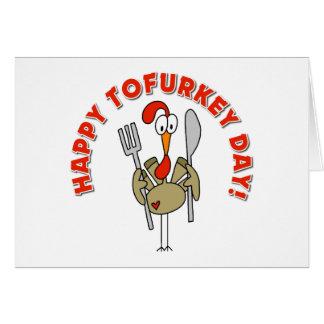 Happy Tofurkey Day Gift Greeting Card
