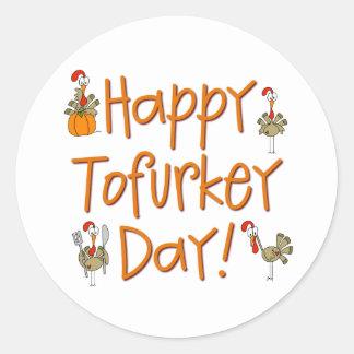 Happy Tofurkey Day Gift Classic Round Sticker