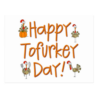 Happy Tofurkey Day Gift Postcard