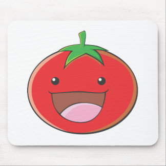 Happy Tomato Smiling Mousepads