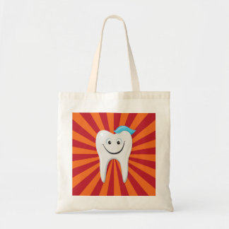 Happy tooth budget tote bag
