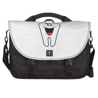 Happy tooth cartoon laptop shoulder bag