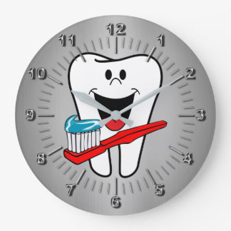 Happy tooth large clock
