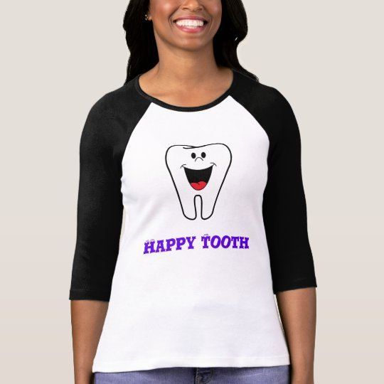 happy tooth raglan T-Shirt