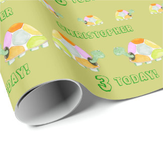 Happy Tortoise Wrapping Paper