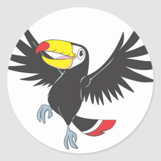 Happy Toucan Classic Round Sticker
