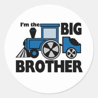Happy Tracks Big Brother Classic Round Sticker