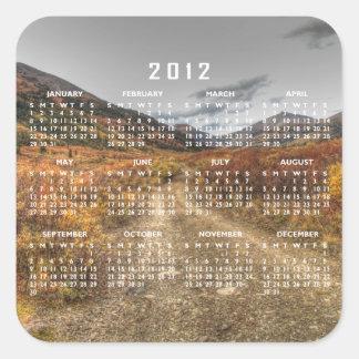 Happy Trail; 2012 Calendar Square Sticker