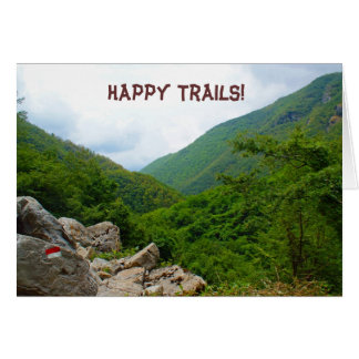 Happy Trails! Card