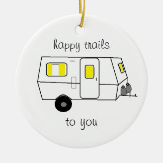 Happy Trails Drawing Christmas Ornament