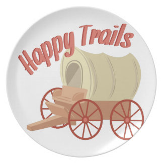 Happy Trails Party Plate