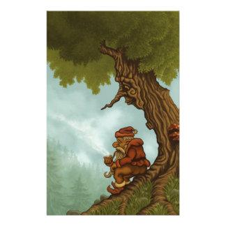 happy tree dwarf fantasy personalized stationery