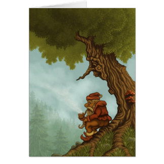 happy tree fantasy greetingcard card