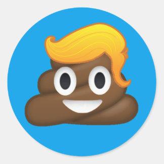 Happy Trump Round Sticker