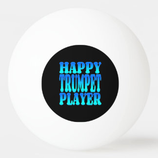 Happy Trumpet Player Ping Pong Ball