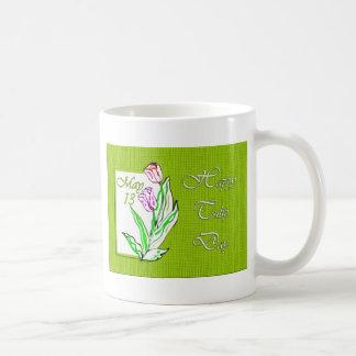 Happy Tulip Day May 13 Basic White Mug